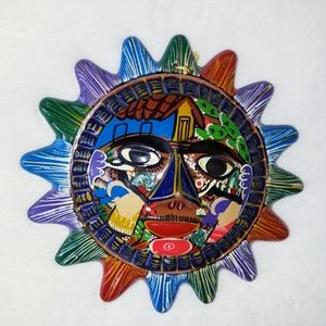 Mexican Art Ceramic Sun
